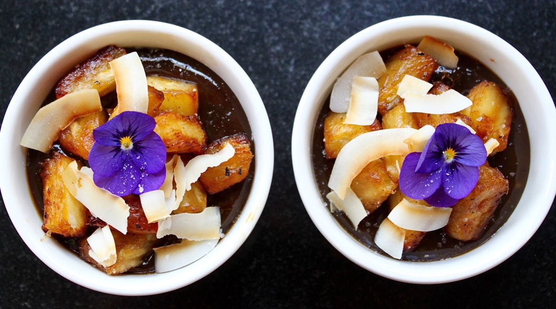 Coconut Dulce de Leche & Caramelized Pineapple.