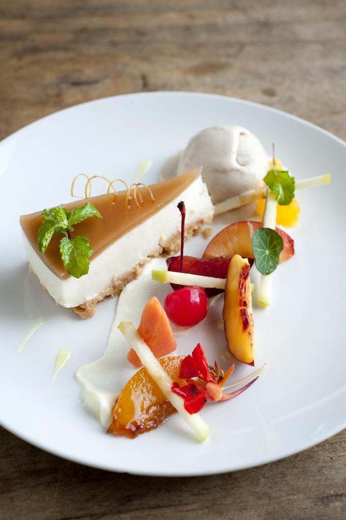 Sungani Phiri's Sour Milk Cheesecake with Musika Jelly. Photo credit: Royal Chundu Lodge.