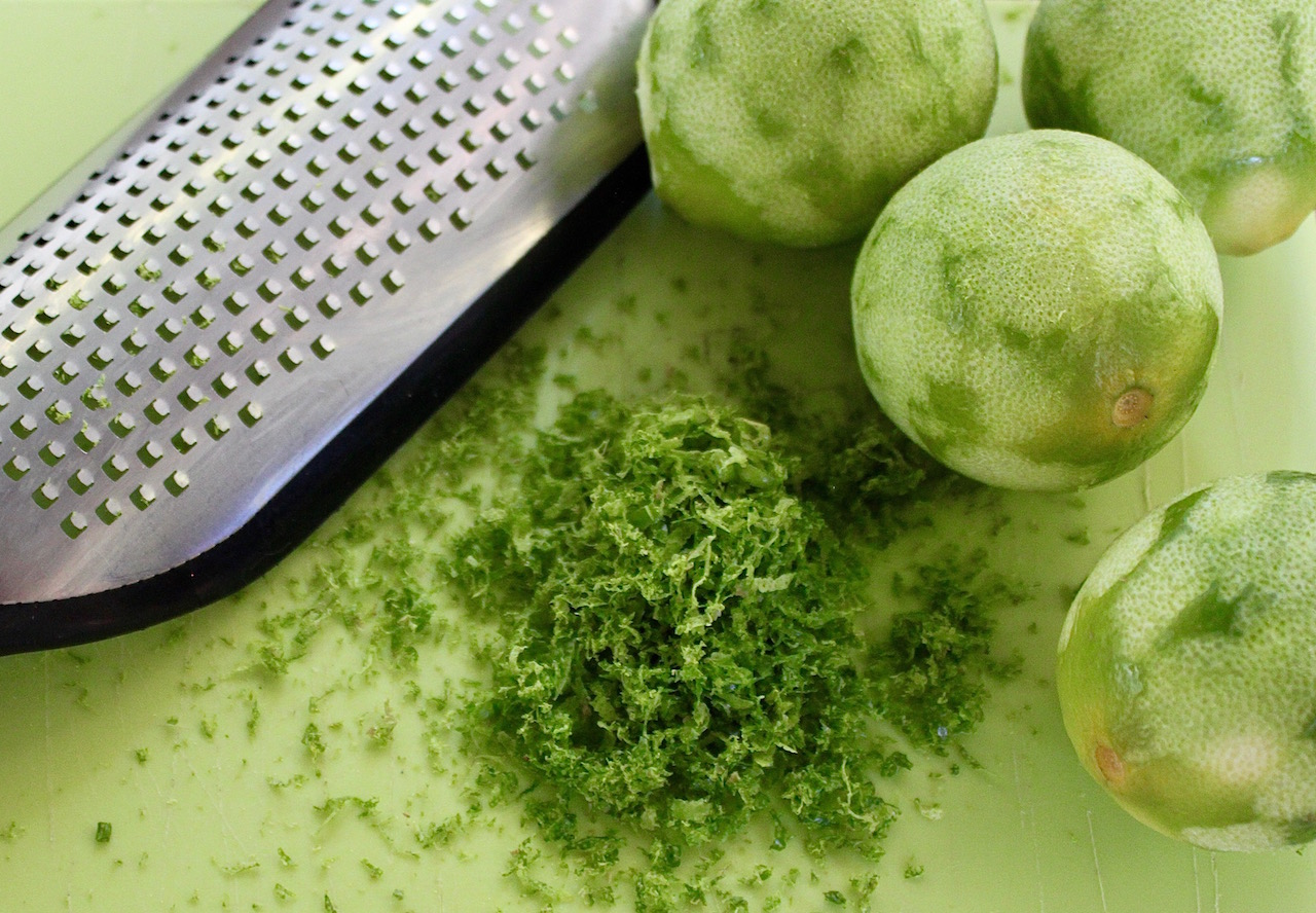 Limes, given to us by our friends, the Orrs, were a key ingredient in many of my dishes.