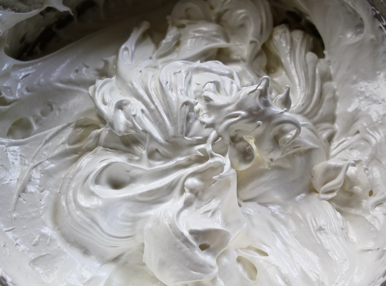 Meringue made from our farm eggs.