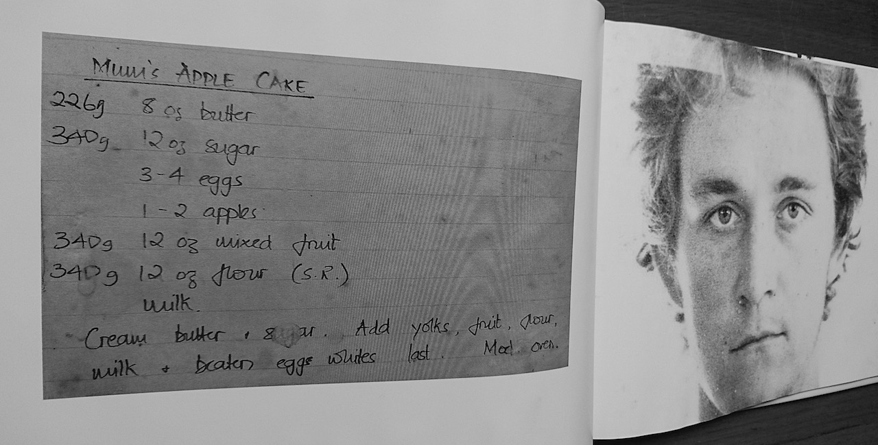 Chris's sister, Dee, put together a book of recipes and photographs for Chris's last birthday.